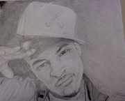 Hip Drawings - T.i. by Michael Bennett