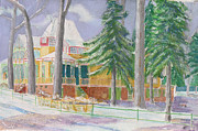 Park Scene Painting Originals - TI PARK Costal Ave West by Robert P Hedden