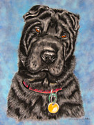 Dog Paintings - Tia Shar Pei Dog Painting by Michelle Wrighton