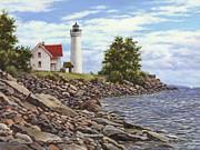 Tibbetts Point Lighthouse Print by Richard De Wolfe