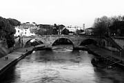 Trastevere Framed Prints - Tiber River Framed Print by John Rizzuto