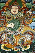 Tibetan Buddhism Prints - Tibetan Buddhist Mural Print by Michele Burgess
