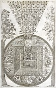 Tibetan Buddhism Prints - Tibetan Cosmology, 18th Century Artwork Print by Asian And Middle Eastern Divisionnew York Public Library