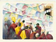 Buddhist Paintings - Tibetan New Year by Wicki Van De Veer