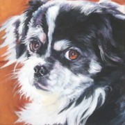 Tibetan Paintings - Tibetan Spaniel by Lee Ann Shepard