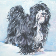 Tibetan Paintings - Tibetan Terrier by Lee Ann Shepard