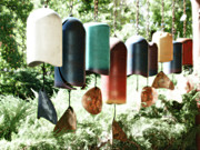 Wind Chimes Framed Prints - Tibetan Wind Chimes Framed Print by Heidi Hermes