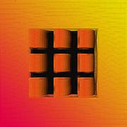 Orange Digital Art Originals - Tick Tac Toe Window by Debbie McIntyre
