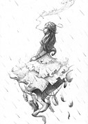 Rain Drawings - Ticking Clock by Rephfy