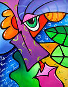Colorful Drawings - Tickle - Original Pop Art by Tom Fedro - Fidostudio