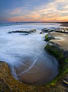 Australia. Photo Prints - Tidal Bowl Print by Mike  Dawson