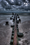 Wood Pylons Photos - Tidal Movement by Nick  Shirghio
