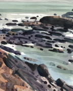 Tidal Paintings - Tidal Pools by Donald Maier