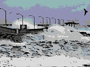 Flooding Digital Art Prints - Tidal Surge Print by George Pedro