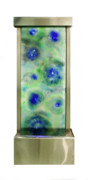 Contemporary Glass Art Originals - Tide Pool Water Feature by Sandy Jackson