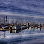 Water Prints - Tideflats Marina Print by David Patterson