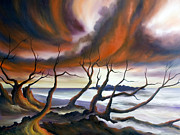 Storms Painting Originals - Tideland by James Christopher Hill
