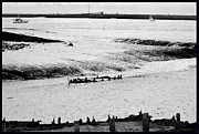White River Scene Metal Prints - Tides On The Wane. Metal Print by Terence Davis