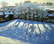 Snowball Paintings - Tideswell Derbyshire by Andrew Macara
