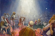 Star Of Bethlehem Painting Prints - Tidings of Great Joy Print by John Millar Watt