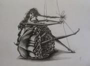 Doll Drawings - Tied in a Knot by Hannah Dise