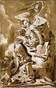 Angel Art Paintings - Tiepolo: Saint Jerome by Granger