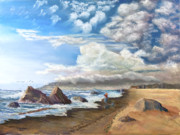 Stormy Pastels - Tierra Del Mar by James Geddes