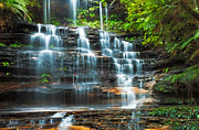 Lawson Prints - Tiers of Junction Falls Print by Mark Lucey
