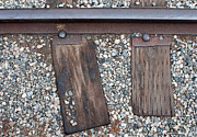 Railroad Metal Prints - Ties Metal Print by Dan Holm