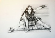 Final Drawings - TifaWarrior by Sharon Branch