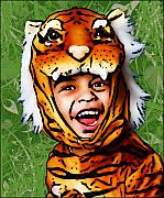 Tiger Art Mixed Media - Tiger Boy by Bibi Romer