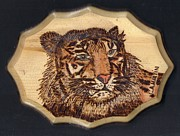 Tiger Pyrography - Tiger by Clarence Butch Martin