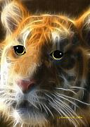 Fractalius Mixed Media Framed Prints - Tiger Cub Framed Print by Madeline  Allen - SmudgeArt
