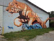 Wynwood Mixed Media - Tiger by Dustin Spagnola