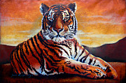 Tiger Art Mixed Media - Tiger by Juan Jose Espinoza