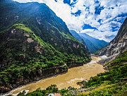 Chinese Tiger Prints - Tiger Leaping Gorge And Jinsha River, China Print by Feng Wei Photography
