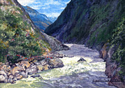 Lynette Cook Paintings - Tiger Leaping Gorge by Lynette Cook