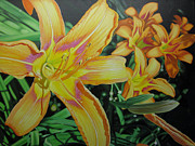 Custom  Studio Paintings - Tiger Lillies in Bloom by Jeff Taylor
