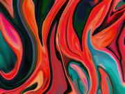 Fire Images Digital Art - Tiger Lily Abstract by Linnea Tober