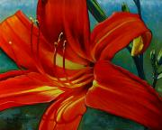 Orchid Paintings - Tiger Lily by Doug Strickland