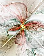 Floral Digital Art Framed Prints - Tiger Lily Framed Print by Amanda Moore