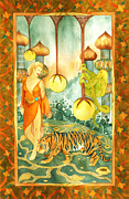 Oriental Tiger Prints - Tiger Retreat Print by Susan C Mills