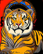 Tiger Saint Photoshop Print by Christina Miller