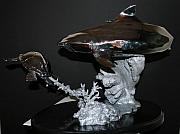 Still Life Sculptures - Tiger Shark In  S.s by Victor Douieb