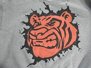 Custom Tapestries - Textiles Prints - Tiger Splatter Custom painted Crewneck sweatshirt Print by Joseph Boyd