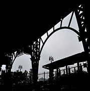 Baseball Stadiums Art - Tiger Stadium Silhouette by Michelle Calkins
