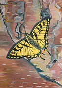 Egg Tempera Paintings - Tiger Swallowtail by Amy Reisland-Speer