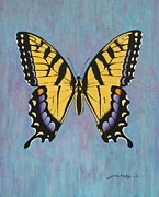 J W Kelly Posters - Tiger Swallowtail Poster by J W Kelly
