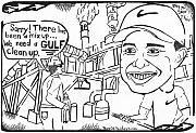 Editorial Cartoon Mixed Media - Tiger Woods Gulf Golf by Yonatan Frimer Maze Artist