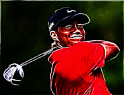 Player Framed Prints - Tiger Woods Framed Print by Paul Ward